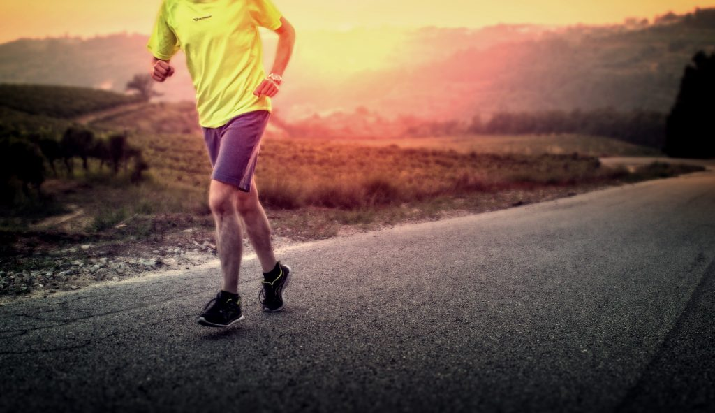Male Runner in the Countryside at Sunrise